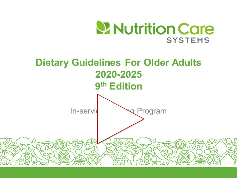 Dietary Guidelines For Older Adults