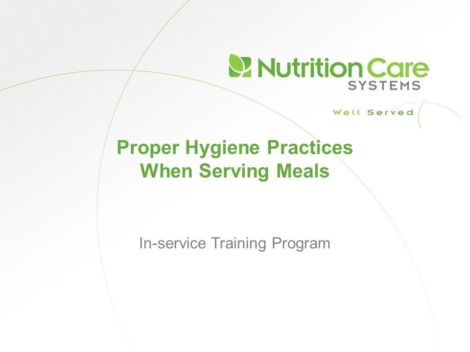 Proper Hygiene Practices When Serving Meals Screen Shot