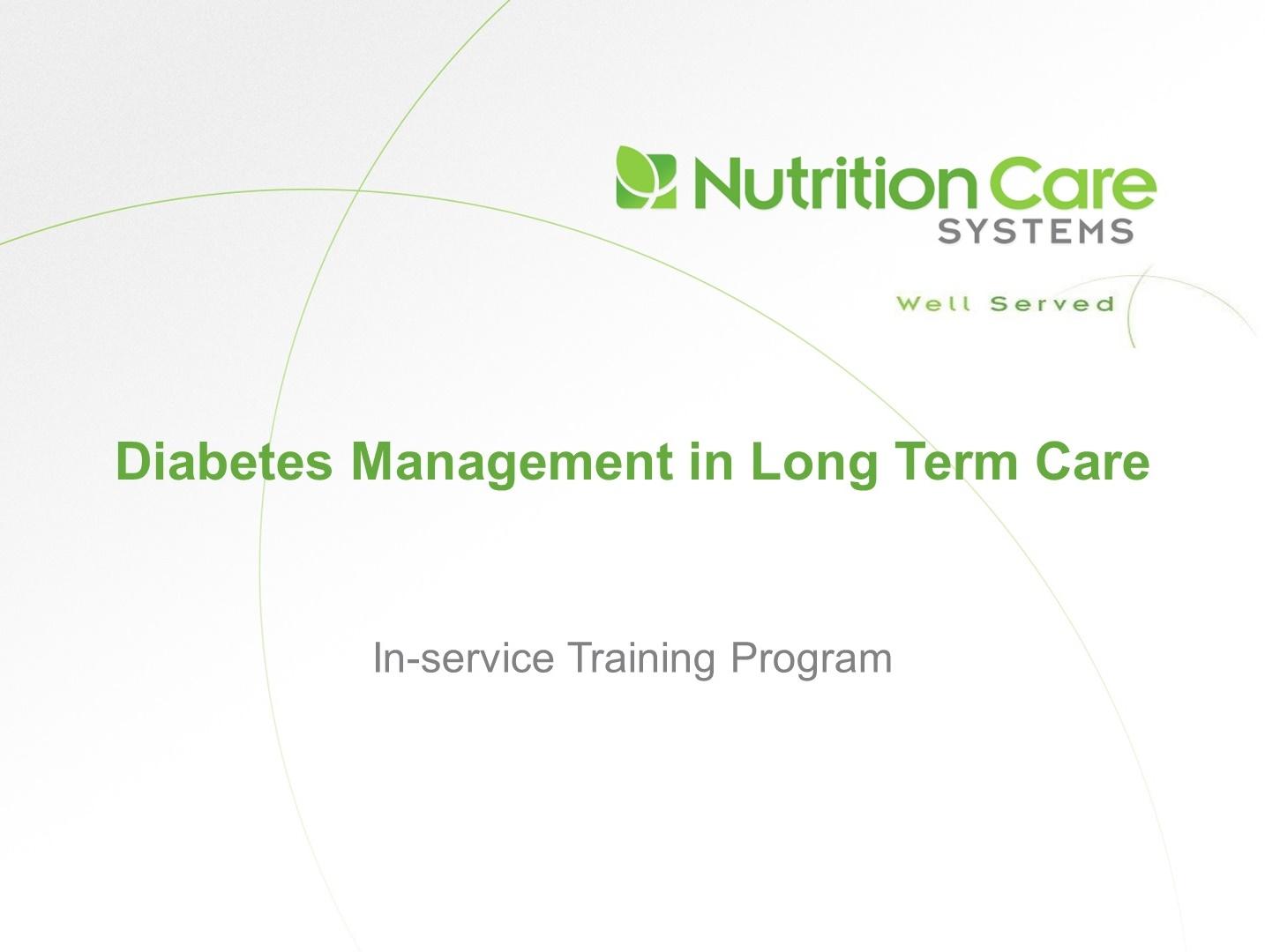 Diabetes Management In Ltc